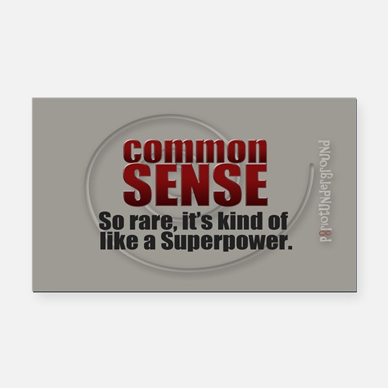 Common Sense Rectangle Car Magnet