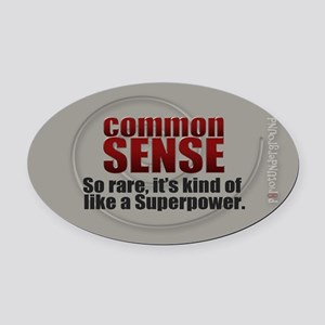 Common Sense Oval Car Magnet