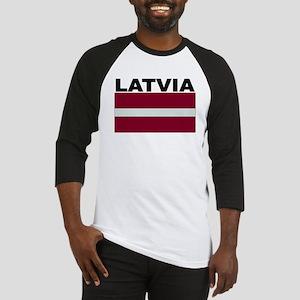 Latvia Flag Baseball Jersey