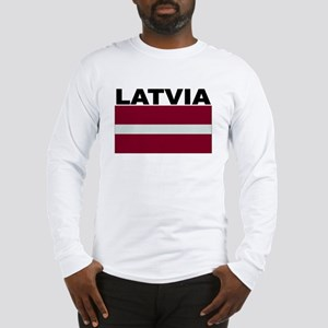 Latvia Flag Long Sleeve T-Shirt