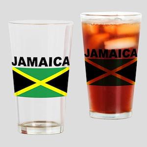 Jamaica Flag Drinking Glass