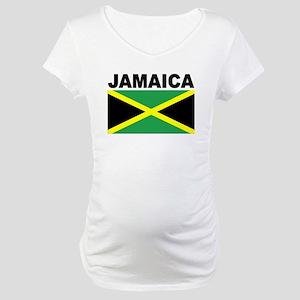 Jamaica Flag Maternity T-Shirt