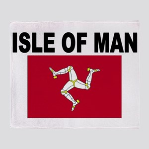 Isle of Man Flag Throw Blanket