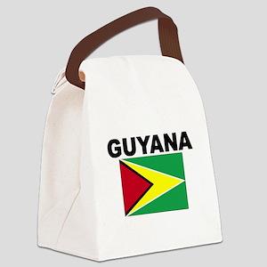 Guyana Flag Canvas Lunch Bag