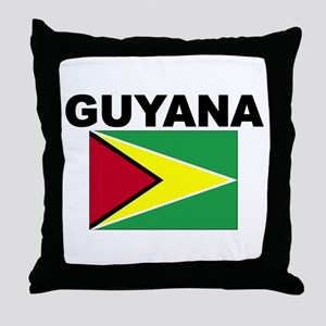 Guyana Flag Throw Pillow