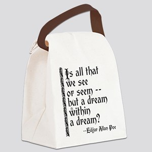 POE A Dream Within Canvas Lunch Bag