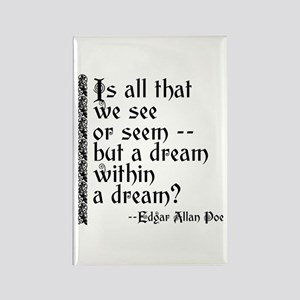 POE A Dream Within Rectangle Magnet