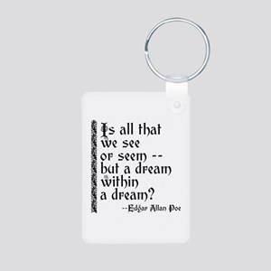 POE A Dream Within Aluminum Photo Keychain