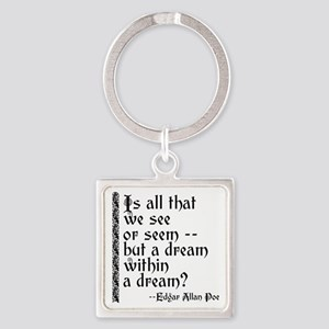 POE A Dream Within Square Keychain