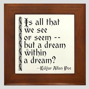 POE A Dream Within Framed Tile