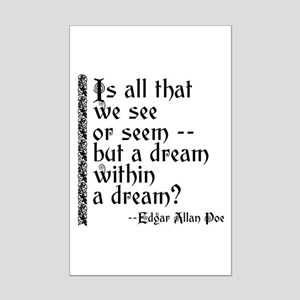 POE A Dream Within Mini Poster Print