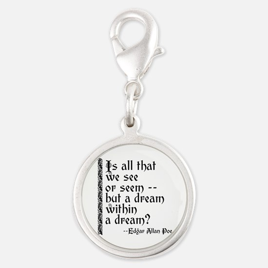 POE A Dream Within Silver Round Charm