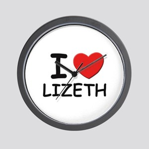 I love Lizeth Wall Clock