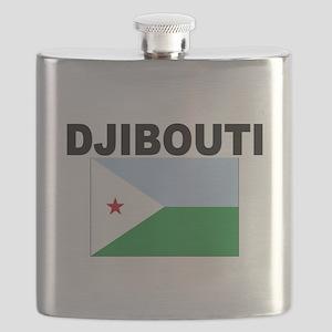 Djibouti Flag Flask