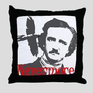 NEVERMORE Edgar Allan Poe Throw Pillow