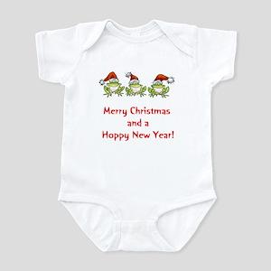 Happy Froggy Christmas Infant Bodysuit