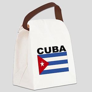 Cuba Flag Canvas Lunch Bag