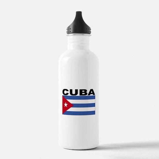 Cuba Flag Water Bottle
