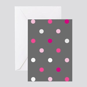 'Gray Dotty' Greeting Card