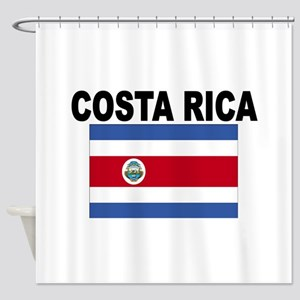 Costa Rica Flag Shower Curtain