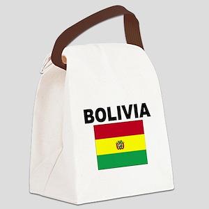 Bolivia Flag Canvas Lunch Bag