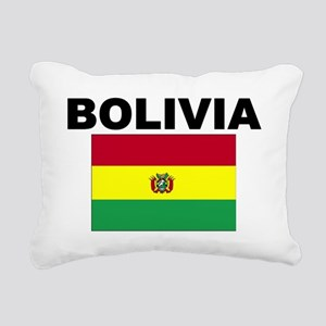 Bolivia Flag Rectangular Canvas Pillow