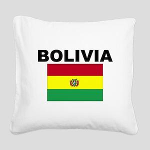 Bolivia Flag Square Canvas Pillow
