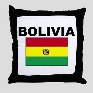 Bolivia Flag Throw Pillow