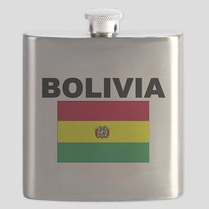 Bolivia Flag Flask