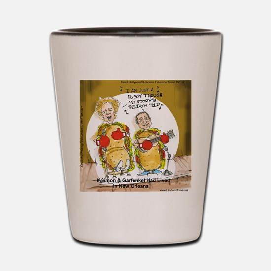 New Orleans Music Food (Funny) Shot Glass