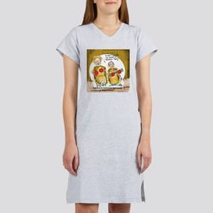 New Orleans Music Food (Funny) Women's Nightshirt