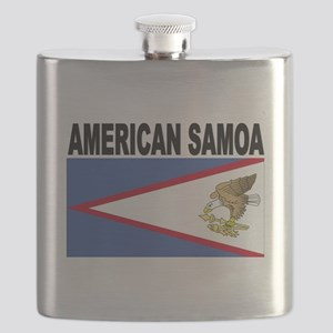 American Samoa Flag Flask