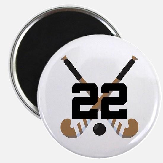 Field Hockey Number 22 Magnet
