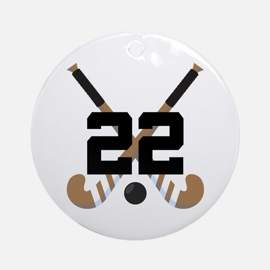 Field Hockey Number 22 Ornament (Round)