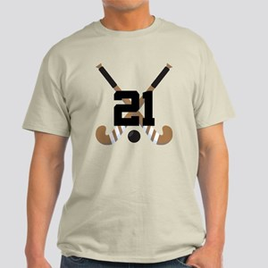 Field Hockey Player Number 21 custom sports logo.