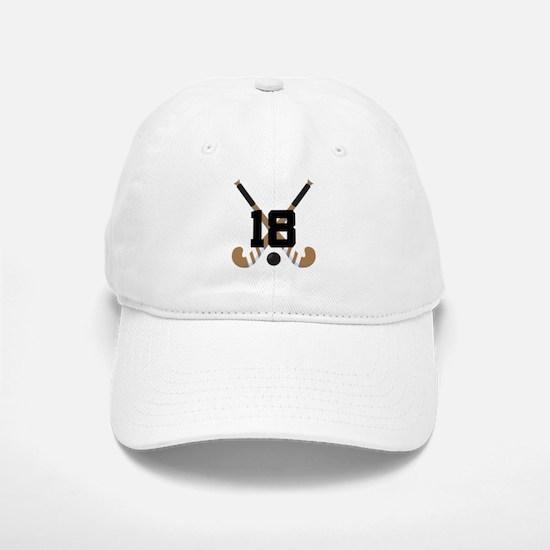 Field Hockey Number 18 Baseball Baseball Cap