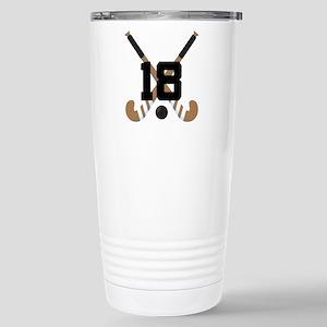 Field Hockey Number 18 Stainless Steel Travel Mug