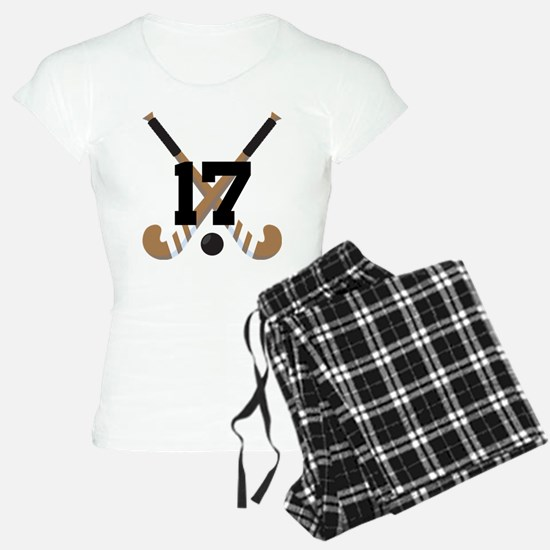 Field Hockey Number 17 Pajamas