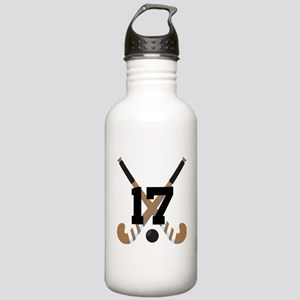 Field Hockey Number 17 Stainless Water Bottle 1.0L