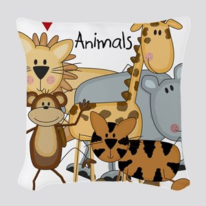 LOVETHEANIMALS Woven Throw Pillow