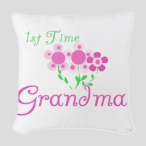 1sttimegrandmaaa Woven Throw Pillow