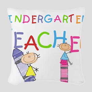 crayonkindergartenteacher Woven Throw Pillow