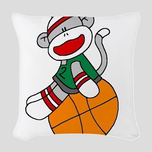 sockmonkeybasketball Woven Throw Pillow