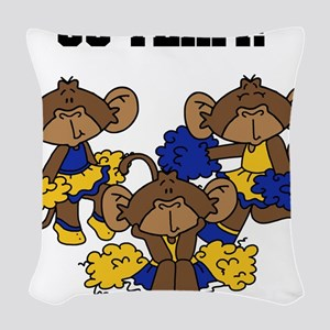 xgoteamyellowblu Woven Throw Pillow