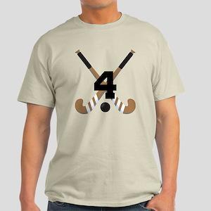Field Hockey Number 4 Light T-Shirt