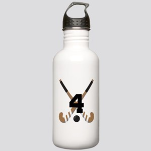 Field Hockey Number 4 Stainless Water Bottle 1.0L