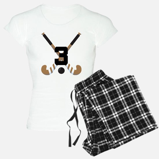 Field Hockey Number 3 Pajamas