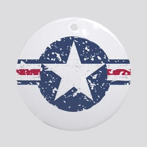 Faded Air Force Logo Ornament (Round)
