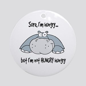 Hippo Hungry Ornament (Round)