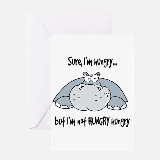 Hippo Hungry Greeting Card